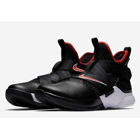 the best attitude 5987a 2f179 Tenis Nike Basquet Lebron Soldier Xii   Negro rojo  5 Al  11