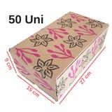 50 Caixas Papelão 27x15x09 Cm Caixinha Sapato Montável K009