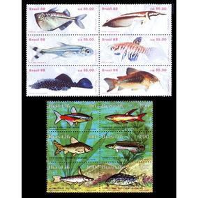 Peixes Do Brasil - 2 Séries Completas Sem Carimbo