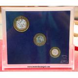 Coleccion De 3 Monedas Nuevos Pesos Completa
