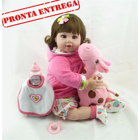 Boneca Bebê Reborn Barata Girafinha Pronta Entrega