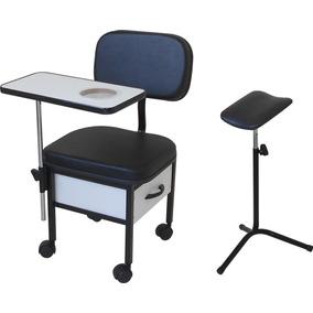 Cadeira Manicure S T + Suporte Tripé Pedicuro Super Oferta