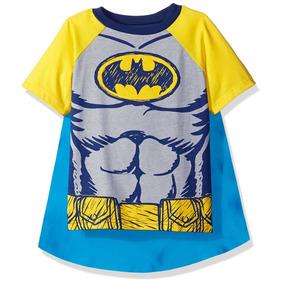 Camiseta Con Capa Para Niños Batman Warner Brothers