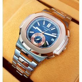 Reloj Patek Philippe Nautilus Acero Oro Rosa Cara Oscura Aut