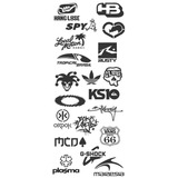 5bc0ad1dc4e Kit 10 Adesivos Marca Skate Surf Tropical Brasil Stanley Spy