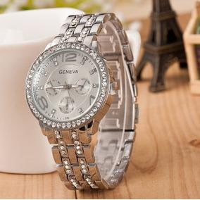 f65ff8c870f2c Relogio Feminino Geneva Prata Com - Joias e Relógios no Mercado ...