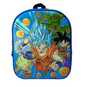 Mochila Dragon Ball Z Tam P 2 Divisórias Menino Escolar b7c700aab1057