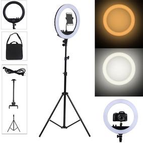 Iluminador Youtuber Com Tripe Ring Light Fotografia Celular