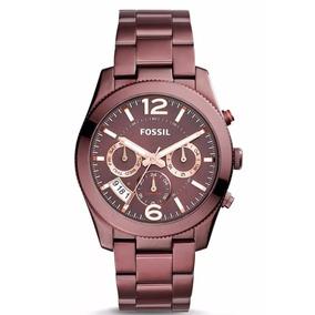 Reloj Fossil Perfect Boyfriend Multifunción Es4110 Vino Dama