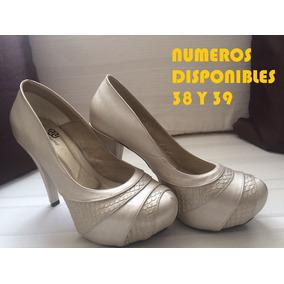 Patos Para Mujer De Tacon Color Beige - Zapatos en Mercado Libre ... 06e4008abce1