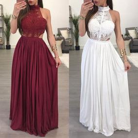 Modelos de vestidos largos color vino