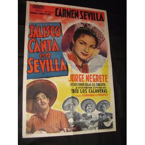 Afiche Antiguo Con Carmen Sevilla