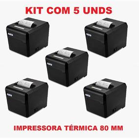 Kit 5 Und Impressora Térmica 80mm Guilhotina Usb Ncfe