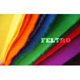 Kit Retalhos De Feltro 30cm X 70cm Kit Com 300 Retalhos