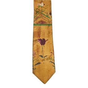Damon Original Corbata Amarilla Con Diseño Tipo Óleo