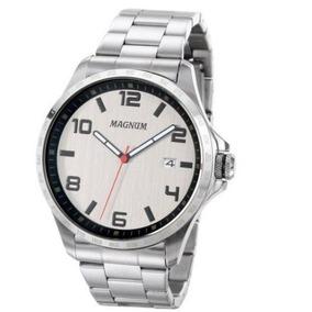Relógio Magnum Ma34450w Calendario Pulseira Aço