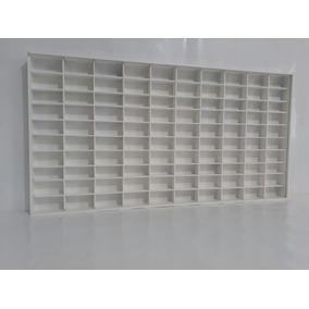 Porta Hotwhells P/100 Carrinhos Mdf Pintado Branco Estante