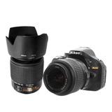 Nikon D5200 Nikkor 2 Lentes Dx 18-55 55-200 24500 Disparos