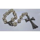 Terço Noivas Casamento Perolas Crucifixo Prata