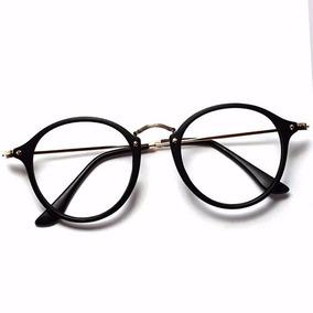 Armação Óculos De Grau Redondo Masculino Feminino Brinde
