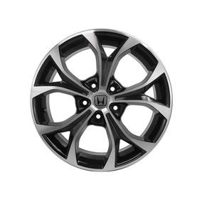 Jogo De Rodas New Civic Kr R29 Aro 17 5x114 Black Diam.