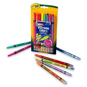 Giz De Cera Neon Twistables 08 C Crayola Ganhe Brinde