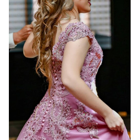 Vestido Luxo Para Debutantes Bordado Á Mão