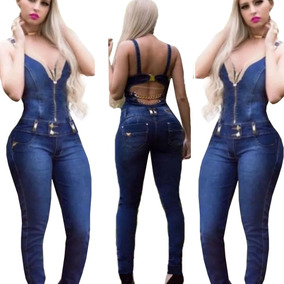 Macacao Jeans Strass 2019