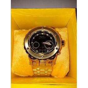 Relógio Masculino Invicta Dourado Aço Inox