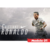 Painel Lona Aniversário Nike Cristiano Ronaldo Cr7 Hd
