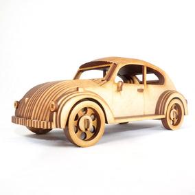 Volkswagen Sedan Escarabajo Vocho Rompecabezas 3d En Mdf
