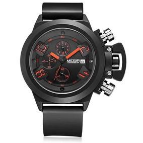 Megir 2002 Reloj Hombre De Cuarzo - Negro As