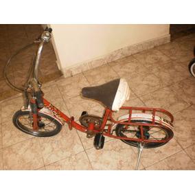 Linda E Antiga Bicicleta Caloi Berlineta Dobravel.