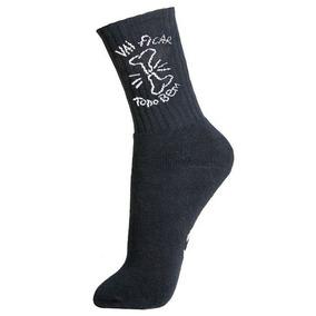 ... X Retta Skate Branco preto vermelho · Meia Dente Socks Vai Ficar Tudo  Bem · R  29 90 e6621af77d0