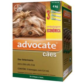 Antipulgas Bayer Advocate Combo Cães Até 4 Kg - 06/2019
