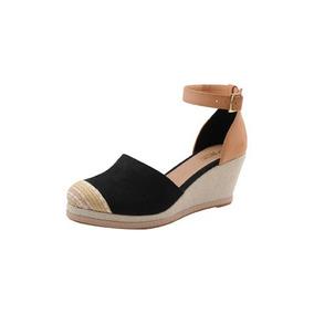 ae63cd1c5c Sandalia Anabela Fechada Baixa - Sapatos Preto no Mercado Livre Brasil