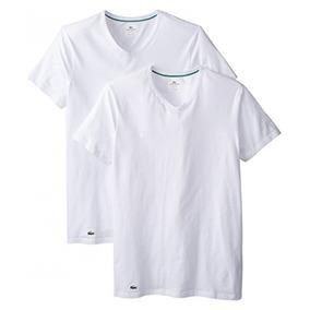 Lacoste - Camiseta De Algodón Con Cuello Redondo Elástico 59b7ddec5d27a