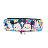 Estojo Metal Branco Mickey Minnie Tsum Tsum