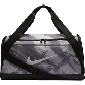 Bolsa Nike Brasilia Duffel Graphic Small Ba5433-027 Cinza f6f30ebd36cee