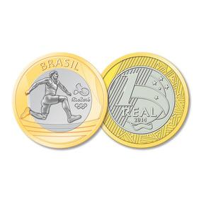 Moeda De R$ 1,00 (1 Real) Olimpíadas 2016. Salto.