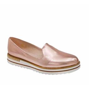 Zapato Casual Rosa Platinados Piel Choclo Dama Vestir Shosh