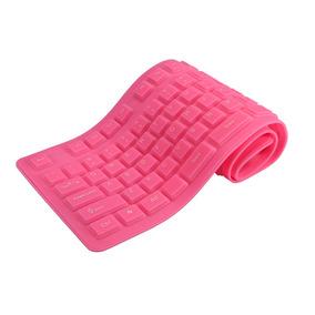 : 108 Teclas Teclado Dobrável Flexível Silicone Usb