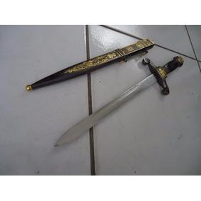 Espada Adaga Grande 47cm Medieval Cavaleiro Em Aço