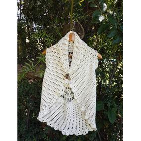 Chaleco Con Flores Tejido A Crochet Artesanal - Ropa y Accesorios en ... b86979049440