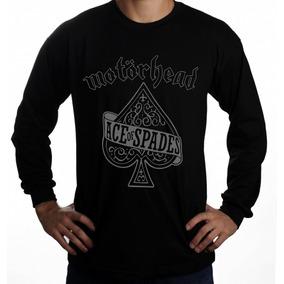 Manga Longa Motorhead Banda Metal Rock Blusa Camisa Metal a519cef4d0496