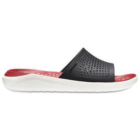 Crocs Literide Slide Black/white - Crocs Uruguay