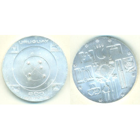Uruguai 200 Novos Pesos 1999 Km-115 25 Gramas Prata .900 Fc
