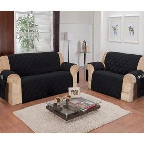 Capa Kit Protetor Sofa Jogo 3, 2 Lugares Tabaco Microfibra