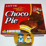 Lotte Choco Pie Caja 12 Pzs Dulces Coreanos Snacks Chocolate
