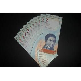 Lote De 10 Cédulas Da Venezuela De 2 Bolivares Fe.